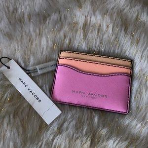 Marc Jacobs pink and orange card holder